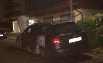 Požiar osobného auta značky Audi na sídlisku Vlčince - 8.10.2017