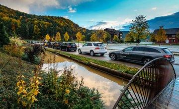 Offroad Valčianska dolina v podaní Mercedes-Benz, Jeep aKia