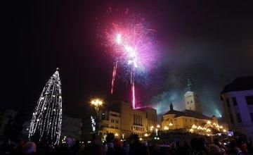 FOTO: Novoročný ohňostroj v Žiline