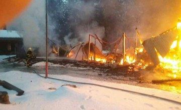 Požiar unimobuniek v obci Pribylina 5. februára 2018