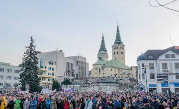 FOTO: Tretí žilinský pochod Za slušné Slovensko - 23. marec 2018