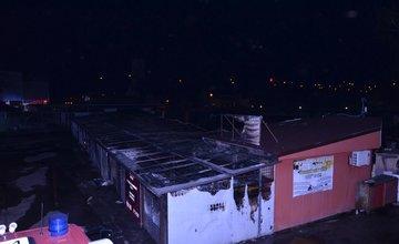 Požiar tržnice v meste Martin - 9.4.2018
