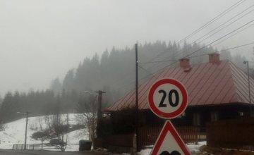 Vyasfaltovaná cesta Oravská Lesná