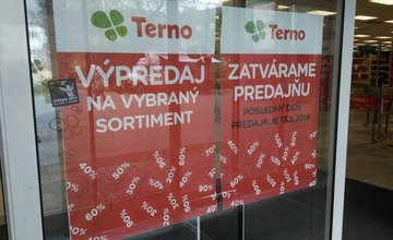 Ukončenie prevádzky predajne Terno v bývalom obchodnom dome TESCO v Žiline