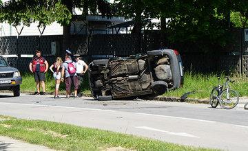 Dopravná nehoda na sídlisku Vlčince, ulica Obežná - 6.5.2018