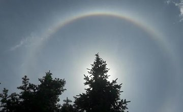 FOTO: Nad Žilinou sa dnes objavila kruhová dúha