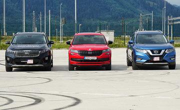 Porovnanie rodinných SUV s naftovým motorom, automatom a pohonom 4x4 v Žiline