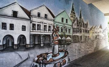 FOTO: Na sídlisku Vlčince sa ďalší posprejovaný podchod mení na umelecké dielo