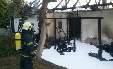 Žilinská Lehota požiar rodinného domu - 8.8.2018