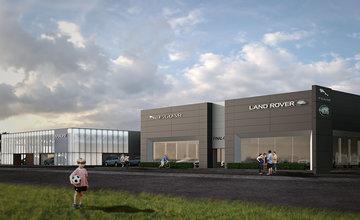 Stavba autorizovaných predajní Volvo, Jaguar a Land Rover