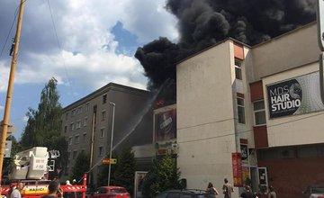 Požiar na streche reštaurácie Tempo 20.8.2018