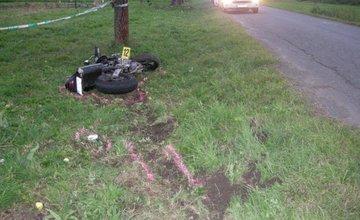 Tragická nehoda 24_ročného motocyklistu v okrese Liptovský Mikuláš 1.10.2018
