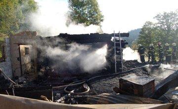 Požiar drevenice v obci Makov 4.10.2018