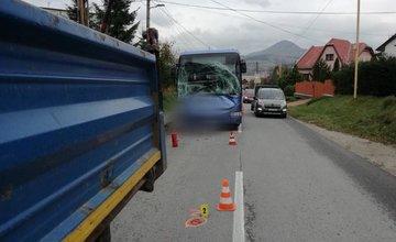 Dopravná nehoda autobusu a nákladného  auta v Kysuckom Novom Meste 26.10.2018