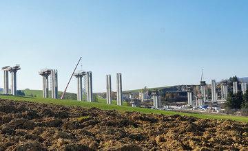 FOTO: Stav prác na stavbe diaľnice D1 a diaľničného privádzača 6.11.2018
