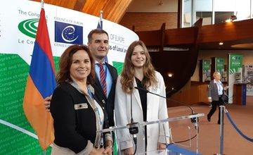 Žilinčanka Michaela na zasadnutí Rady Európy
