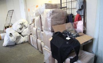 Fejkové oblečenie v sklade v Kysuckom Novom Meste