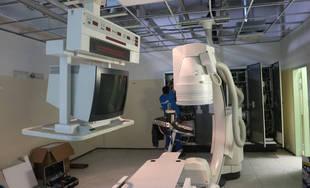 FOTO: V žilinskej nemocnici prebiehajú stavebné práce, na rádiodiagnostike pribudne nový angiograf