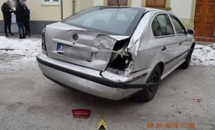 Policajná naháňačka v Žiline 26.1.2019 - poškodené autá