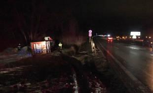 Dopravná nehoda kamióna a dodávky v Brodne 1.2.2019