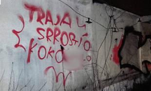 Mestskí policajti chytili 14. februára sprejerov priamo pri čine