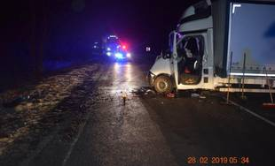 Dopravná nehoda v katastri obce Liptovská Osada 28.2.2019