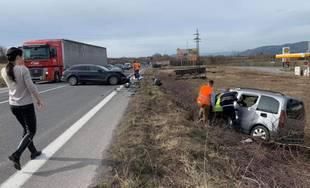 Dopravná nehoda pri obci Strečno 4.3.2019