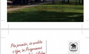 Pohľadnice na protest proti zdržaniu výstavby R3 na Orave