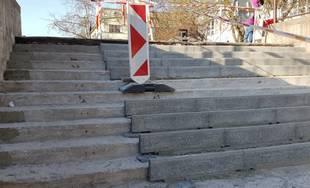 FOTO: Oprava schodov na Bernolákovej ulici v Žiline začala