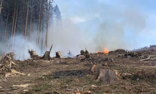 FOTO: Na Kysuciach horia lesy, zasahuje množstvo profesionálnych aj dobrovoľných hasičov