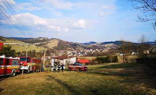 Požiar rodinného domu v obci Skalité 5.4.2019
