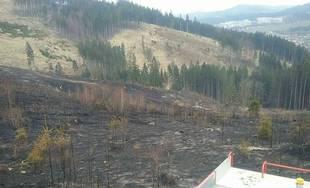 Požiar v obci Raková (okres Čadca) v apríli 2019