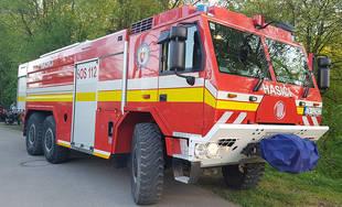 Požiar suchej trávy v mestskej časti Rosinky 25.4.2019