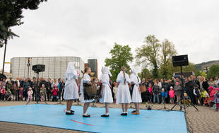 FOTO: Žilinský máj už stojí na Námestí Andreja Hlinku