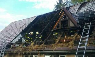 Požiar rodinného domu a prístavby v katastri obce Skalité 18.5.2019