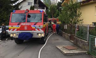 Požiar drevenice v obci Bitarová pri Žiline 20.5.2019