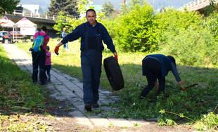 Dobrovoľnícke čistenie historického územia Frambor v Žiline 25.5.2019
