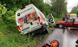 Dopravná nehoda pri Mojšovej Lúčke 30.5.2019