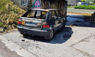 Požiar osobného auta pod Rondlom 7.6.2019