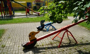 Uzatvorené detské ihrisko na ulici Nitrianska v Žiline
