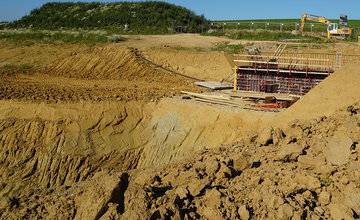 FOTO: Aktuálny stav prác na stavbe diaľničného privádzača 27.6.2019