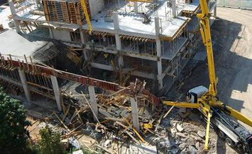 Na stavbe Rudiny II sa preborila časť debnenia