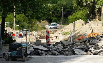 Výstavba horúcovodu na sídlisku Solinky v Žiline