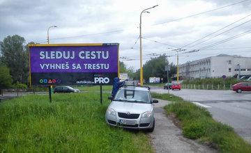 Autoškola PRO apeluje na vodičov v Žiline prostredníctvom bilbordov
