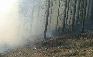 FOTO: Pri hasení lesného požiaru na Orave zasahuje 30 hasičov, zasiahnutá plocha je 1500 m2