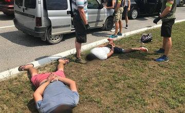 Policajná akcia zameraná na drogy na ulici Kysucká v Žiline 31.7.2019