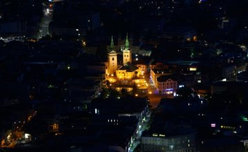 FOTO: Nočné zábery Žiliny z vyhliadky na Dubni