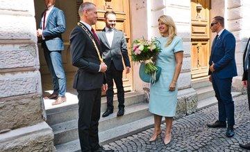 FOTO: Návšteva prezidentky SR Zuzany Čaputovej v Žiline - Radnica a Kia Motors Slovakia