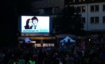 FOTO: Zhromaždenie Za slušné Slovensko v Žiline 20. september 2019