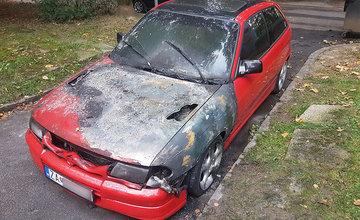 Požiar osobného auta na sídlisku Hliny 24.9.2019